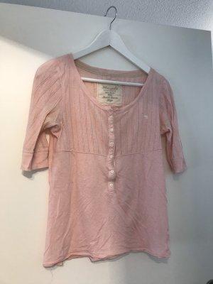 Abercrombie & Fitch Top en maille crochet rosé