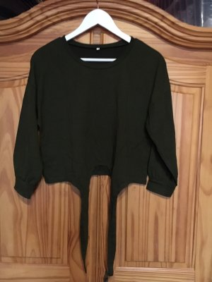 SheIn Wraparound Shirt dark green