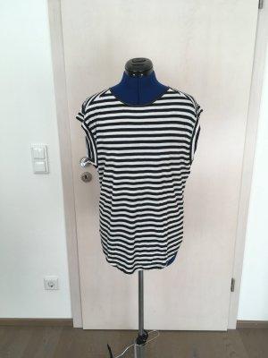 Zero Gestreept shirt wit-zwart