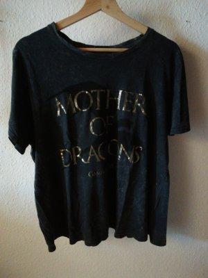 Primark Print Shirt gold-colored-dark grey