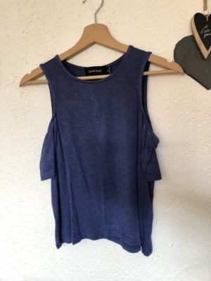Minkpink Top cut-out blu acciaio