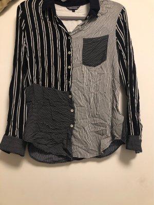 Tommy Hilfiger Camisa de manga larga blanco-azul oscuro