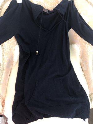 Camicia con cappuccio blu scuro-petrolio