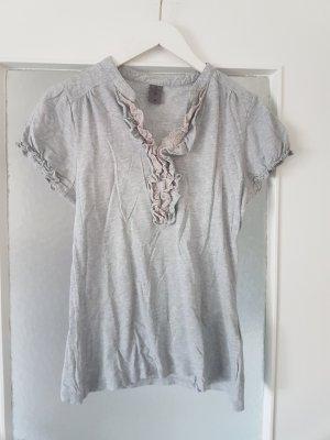 Vero Moda Geribd shirt lichtgrijs Katoen