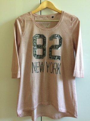 Shirt * altrosa * mit Pailletten * Größe L * von Donnell Love
