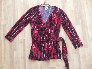 Shirt Anne Klein XS rot schwarz (NEU)