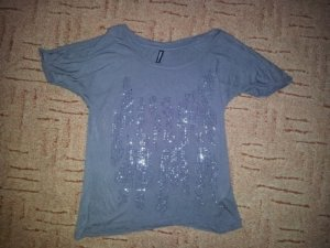Shirt Anthrazit mit Strass Gr. XS