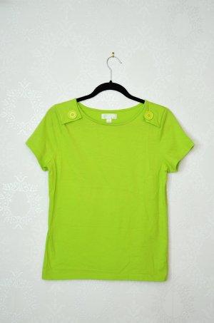 Shirt Apfelgrün Knöpfe Epauletten Grün Basic NEU