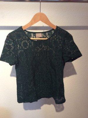Shirt aus grüner Spitze