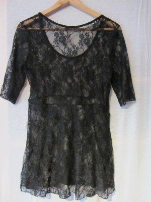 Shirt aus schwarzer Spitze von BKE, Gr. L