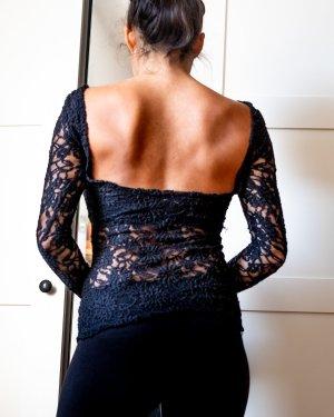 Shirt aus Spitze, tiefer Rückenausschnitt, Pimkie, Größe 34