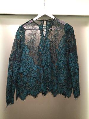 Shirt aus Spitze von Zara - Größe M