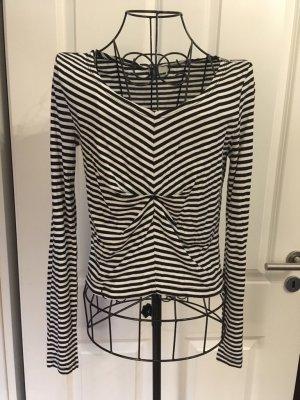 Noisy May Camisa de rayas negro-blanco
