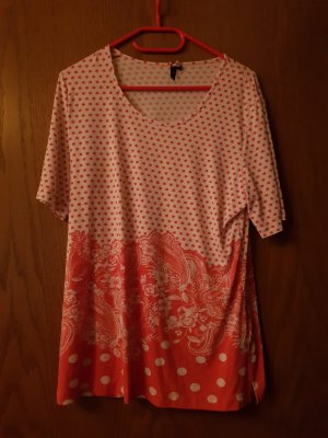 Shirt Tunic white-red