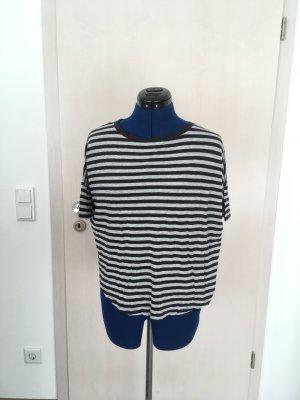 Esprit Gestreept shirt lichtgrijs-donkerblauw