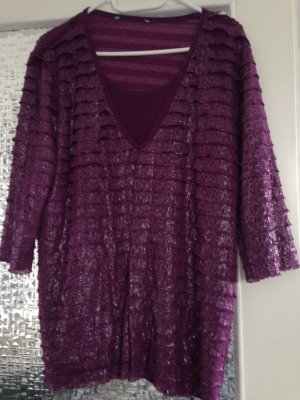 Shirt Tunic purple polyester