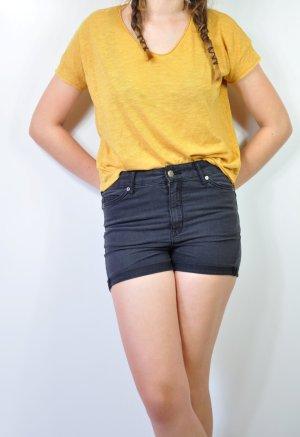 Shirt Basic mit ausgefranster Optik