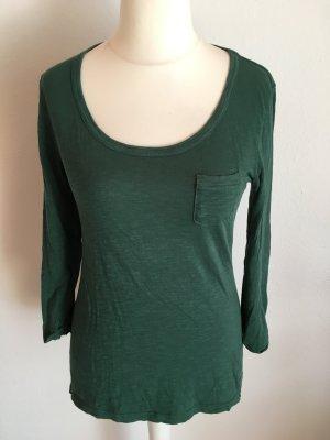 Shirt Basic Oberteil grün 3/4 Ärmel Gr. L TOP