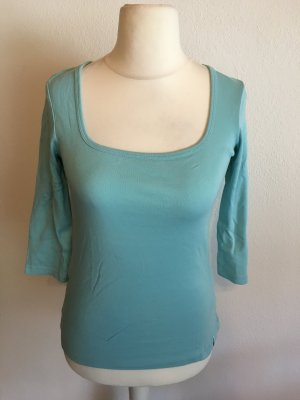 Shirt Basic Oberteil hellblau 3/4 Ärmel Gr. 38