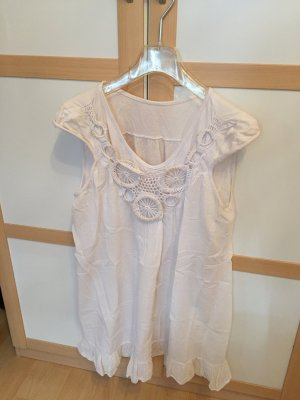 Camisa larga blanco