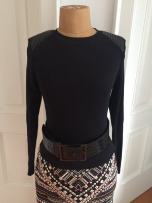 Zara Chemise côtelée noir