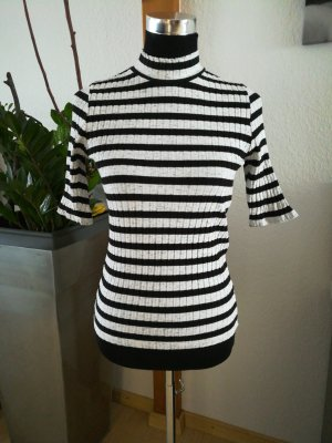 Only Ribbed Shirt white-black