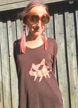Shirt BIG KITTIE mit Kupferkatze
