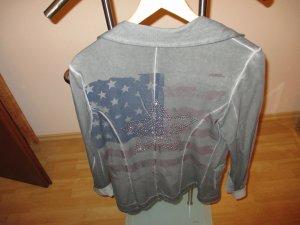 Shirt Blaser in grau mit coolem Rückenprint
