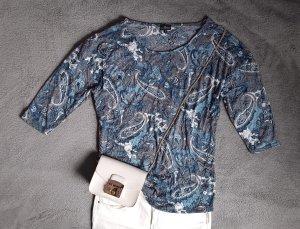 Camisa recortada multicolor Poliéster