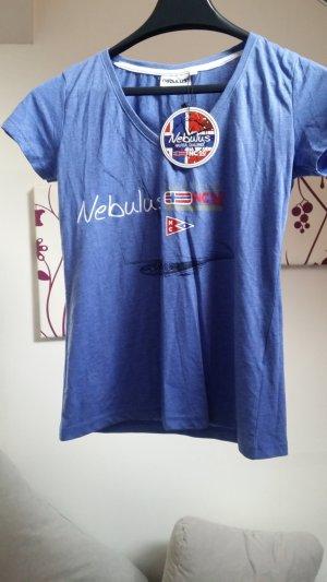 Shirt blau Nebulus mit Etikett