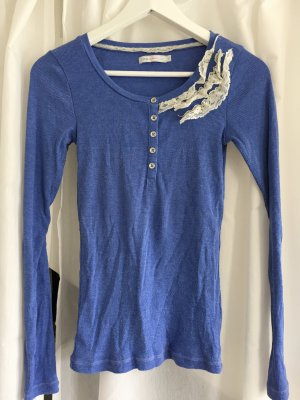 Shirt blau Spitze Only S
