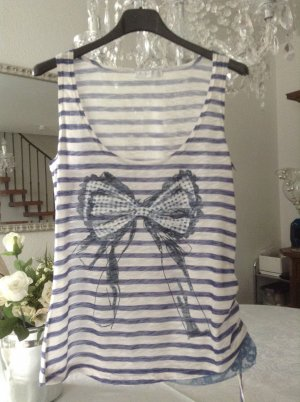 Shirt / blau-weiß gestreift / Gr. 36 S / Promod