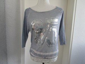 Bleifrei Suéter azul bebé-color plata Algodón
