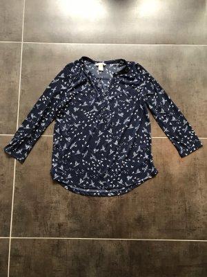 Shirt Bluse blau H&M