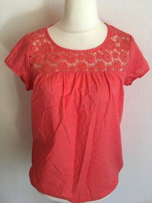 Shirt Bluse Bluenshirt leicht hellrot locker Gr. 36