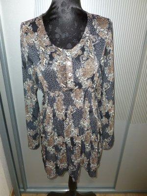 Quinze heures Trente Paris Blusa larga color bronce-gris oscuro