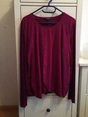 Shirt / Bluse im Materialmix