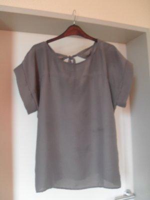 Shirt-Bluse in grau - extravagant - Max Mara