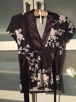 Shirt Bluse kurzarm Bluse Blumen Vero Moda