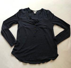 Shirt / Bluse mit 3/4-Arm, H&M, Dunkelblau, Gr. 34 *neuwertig*