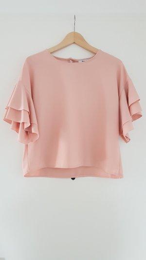 Shirt Bluse mit Rüschenärmeln / Volants von Liebesglück Gr. S