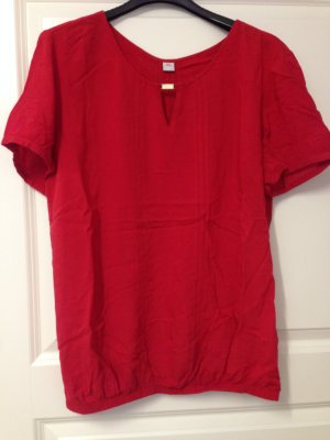 Shirt Bluse S.Oliver dunkelrot Gr 38 mit Biesen