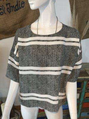 Shirt Bluse schwarz weiß Opus someday Größe 40 neu