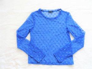 Shirt Bluse transparent mesh mit Punkten