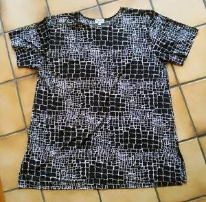 Shirt - Bluse - Tunika schwarz-weiß