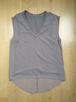 Shirt-Bluse von ZARA, taupe / hellgrau Gr. S