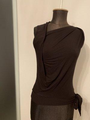 Bandolera Camisa cruzada marrón-negro