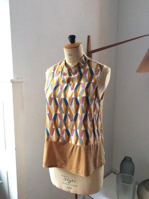 Shirt, Bluse, Zara, Samt, Gold, Kupfer