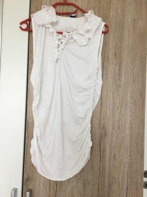 Shirt Blusenoptik *Gr. 44* Weiß *Mandarin*
