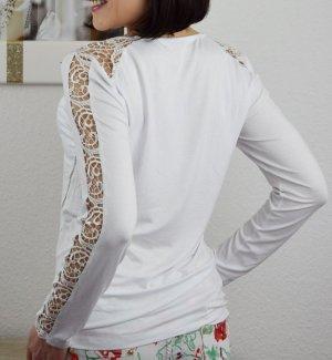 Shirt Blusentop Basic Spitzentop neu Gr. M